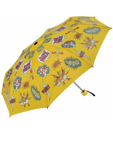Paraguas Plegable Kids Cómic Amarillo
