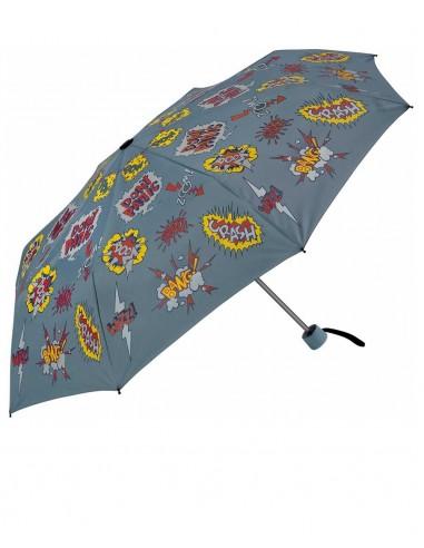 Paraguas Plegable Kids Cómic Azul
