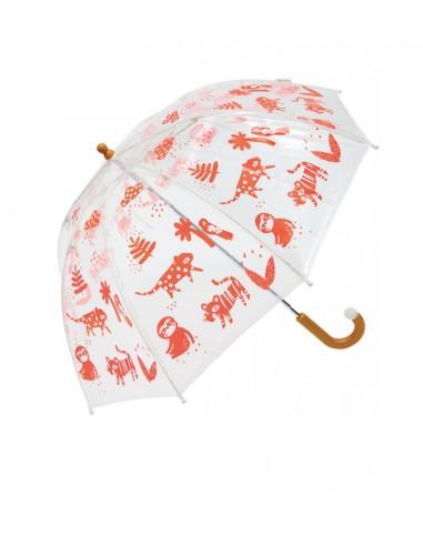 Paraguas Infantil Jungla Clima Naranja