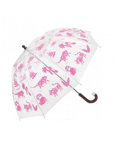 Paraguas Infantil Jungla Clima Rosa