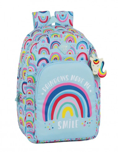 Mochila Escolar Adaptable Carro Glowlab Rainbow